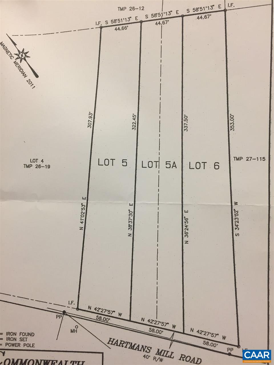 land for sale , MLS #577479, 205 & 207 Hartmans Mill Rd
