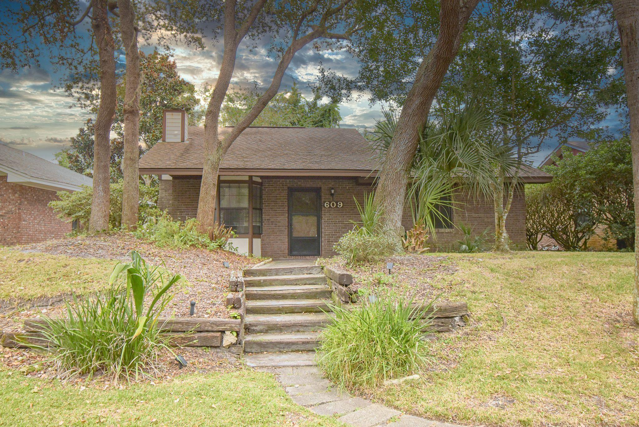 Adorable, private brick bungalow with open floor plan located on the Island. The screened in porch is a peaceful area for drinking your coffee/cocktail.  There is also a fireplace for warming up on those chilly Florida winter nights. HOA takes care of the pool and lawn maintenance. High lot and never flooded.  The neighborhood has a back gate for access to the beach which is 7 blocks away.
