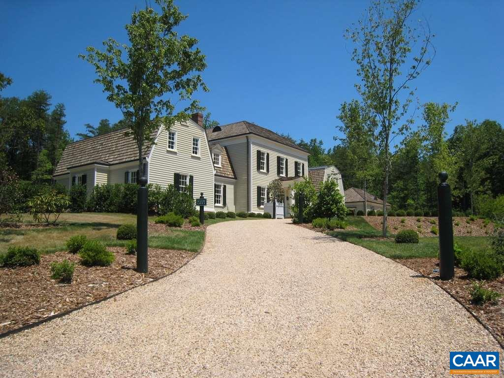 A rare chance of living amongst Charlottesville history! This gorgeous Albemarle Estate was designed & built by Patricia Kluge. The french provencial style home has an interior that has been gutted to the studs, with insulation and drywall reinstalled.  This blank slate is ready for you to bring her back to her original grandeur!  Sold as-is.  Additional land is available with home listing.  *Please note that pictures of finished home that are provided are from the home's glory days.*