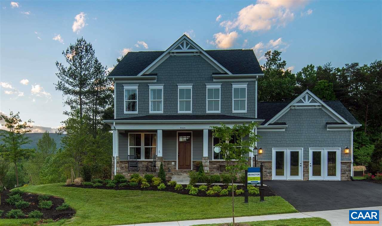 Model home for sale - Brand New Solar Panel System! Don't miss your chance soak up the beauty of the mountains in Chesterfield Landing, an intimate enclave of ½ acre homesites in the heart of Crozet, located in the highly sought after Western Albemarle School District. The Irvington is a 2,392 finished sq. ft. two-level home with a spacious floorplan, perfect for entertaining friends or enjoying family at home. Features a beautiful kitchen with island, granite, 9' ceilings including basement and built with Green Living features in mind. Other features include gas fireplace, SS appliances, screened in porch, stamped concrete patio, outdoor firepit and new solar panel system installed by Sigora Solar.