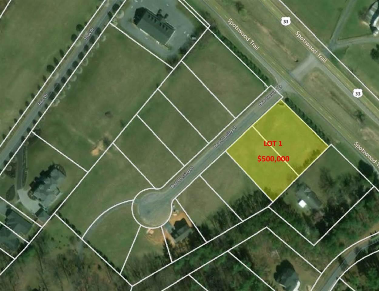 Lot 1-2 BEAR CROSSING CT, PENN LAIRD, VA 22846