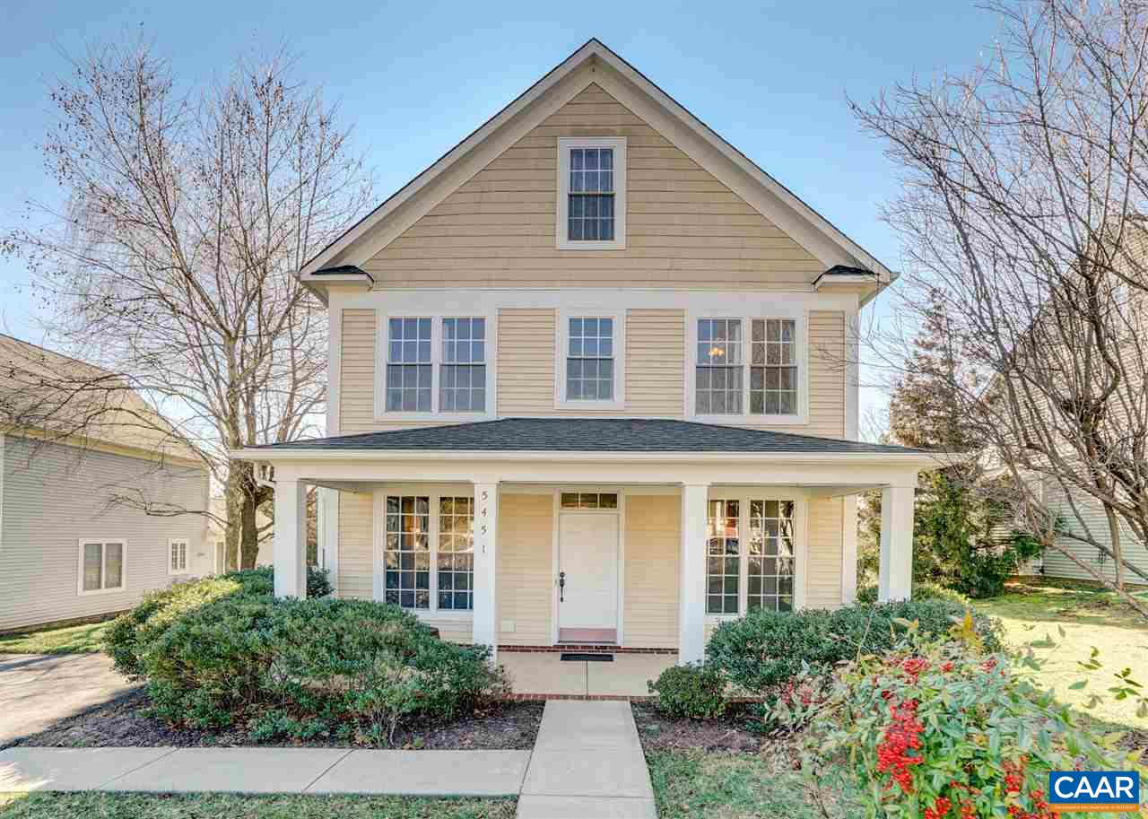 PARKSIDE VILLAGE - CROZET  (NEXT TO CLAUDIUS CROZET PARK & YMCA/A SHORT WALK TO DOWNTOWN): 4 BR 3-1/2 BA home - 2356 fin. sq.ft. on 3 levels. Open & light filled main level (9' ceilings): eat-in kitchen adjacent to family room (w/gas-log fireplace & access to rear patio) - living room, dining room, half-bath & laundry/utility room on level 1.  Owner's suite w/large bath, linen & walk-in closets +2 additional bedrooms & full bath on 2nd level; a large bedroom & full bath + storage closet on 3rd level. A Southerly-facing rear patio, level yard & common area beyond - for relaxation, entertaining, gardening & play. *HEAT PUMP W/GAS FURNACE BACKUP* ATTACHED 78 sq.ft. STORAGE CLOSET.  **1 YR. BUYERS WARRANTY**