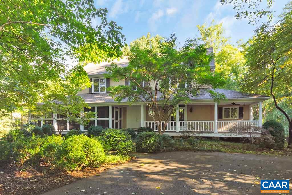 Open 8/25 2-4pm. PRICE REDUCED! MOTIVATED SELLERS! Now offered well below 2019 assessment! Stunning, spacious contemporary w gorgeous pool on 2+ level & private acres in W. Albemarle, less than 6 miles to Stonefield.  Beautiful 2-story FR with wood fireplace and loads of windows. Remodeled open kitchen w reclaimed HW floors, Italian marble counters, custom cabinets, SS Viking appliances - a beautiful chef's kitchen! 1st flr MB Ste w large walk-in closet and jetted tub.  4 generous BRs on 2nd flr w 2 more full baths. Large windows, transoms and French doors allow for sunlight everywhere. Fin. bsmt w wood stove.  Winter Mtn views, W. schools! With acceptable offer, sellers will pay $4,000 credit at closing for bath remodel.