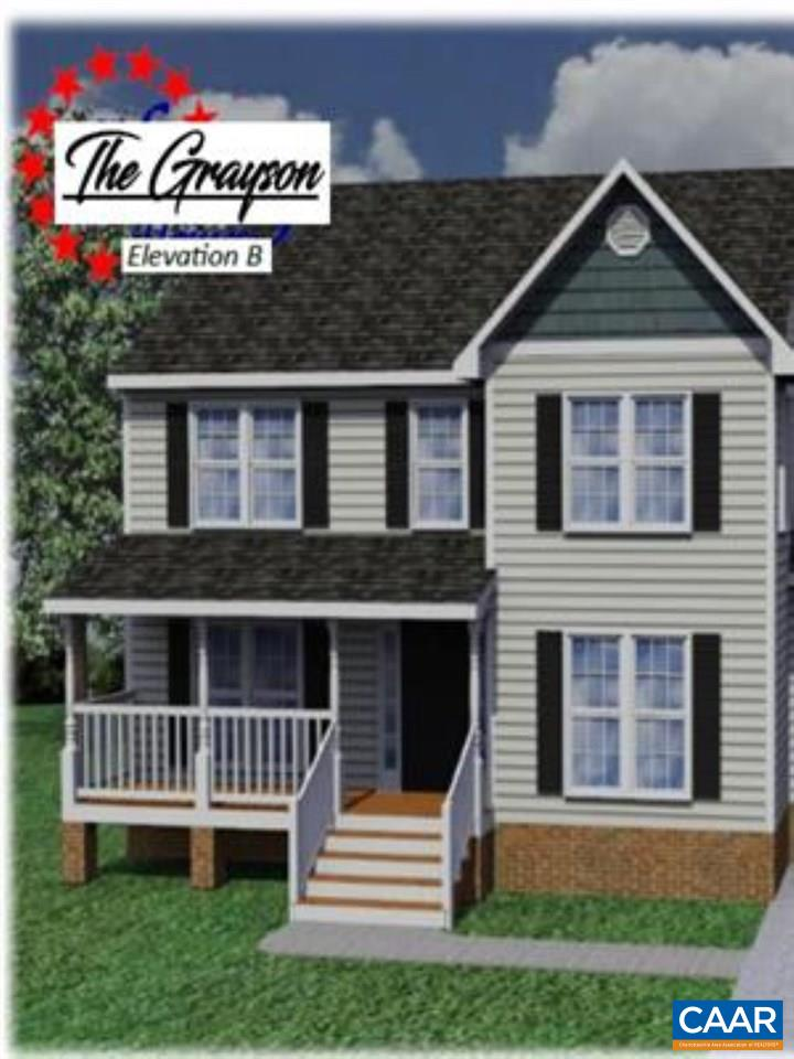 Similar to Photo, the Grayson Plan features 3 Bedrooms, 2.5 Baths! A Master Suite with Garden Bath and Double Vanity, Breakfast Nook  with extra Windows, Large Great Room, Private Dining Room, Kitchen with Granite Countertops, Gas Fireplace, and Many More Upgrades! NOTE: GPS provides several routes to this community. BEST to take Rt 15 to Palmyra, then turn on Courthouse Rd (601) to L on Oak Creek, L on Miles Jackson, L into Panorama.