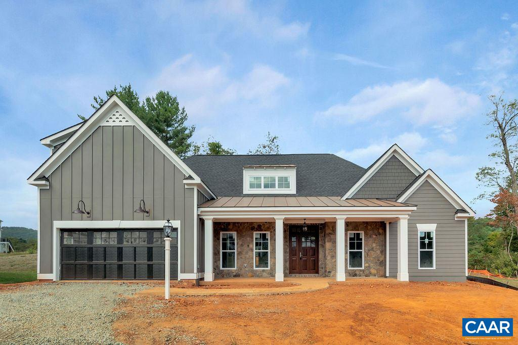 """UNDER CONSTRUCTION, 2019 DELIVERY! A blank slate ready for your personal touches! Farmhouse exterior, finished bonus room/bath, and huge screened porch included! Quality built with 2x6 exterior walls, custom mahogany front door, R-19 insulation, and 5"""" plank hardwood.  Gourmet Kitchen with painted maple cabinetry (white, grey, etc shaker style), granite countertops (also in owner's suite), and coffered ceiling. Spacious screened porch off of great room with vaulted ceiling, perfect for outdoor entertaining. Finished Bonus Room and full bath on upper level with adjacent, spacious storage area. Photos are of model home which is available for tour."""