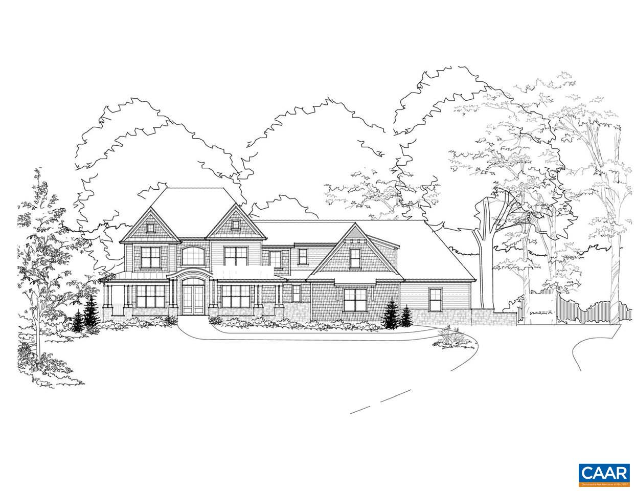 Proffit Ridge's latest Proposed Home built by Dominion Custom Homes. Many Kitchen upgrades, large Great Room, 1st & 2nd Fl Master Bedrooms. Covered Porch and Deck are perfect for entertaining guests. Private, wooded lot with plenty of acreage that is located 15 minutes from Charlottesville (Pantops or 29 corridor) and 20 minutes from Downtown. This home features 4 bedrooms, 4 full bathrooms, and 2 half baths, an attached 4-car garage and plenty of upgrades and finishes. High speed internet available, 1 Gig through Comcast/Infinity. Built green and built to last, Dominion Custom Homes has a strong reputation of building quality homes in the Charlottesville area.