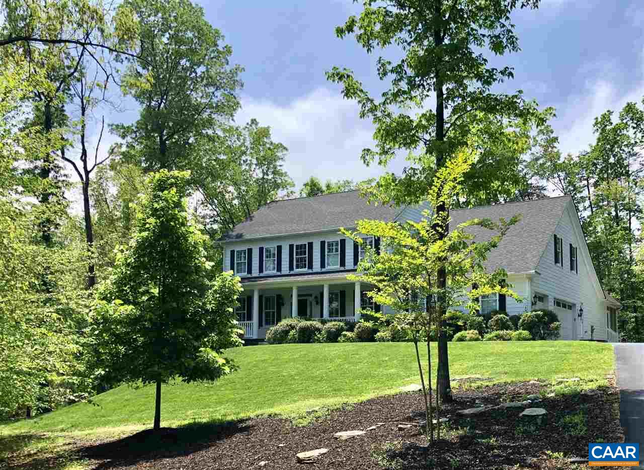 One acre+ Glenmore homesite. Better than New! FIVE bedroom 2011 built residence with 4th bay detached Carriage House garage. Located in the newer Q-2 section of Glenmore with large 1 acre+ homesites. Modern OPEN plan that shows like a designer appointed model home. Generous sized rooms make this floor plan ideal for entertaining and large gatherings. Luxurious first level Master Suite, a 24' x 19 gourmet kitchen adjoining a 21 x 19 family room and a a spacious 19 x 10 screened in porch.  Energy efficient throughout. Spray foam insulation, tank less water heater, low E windows, and Energy Star appliances.