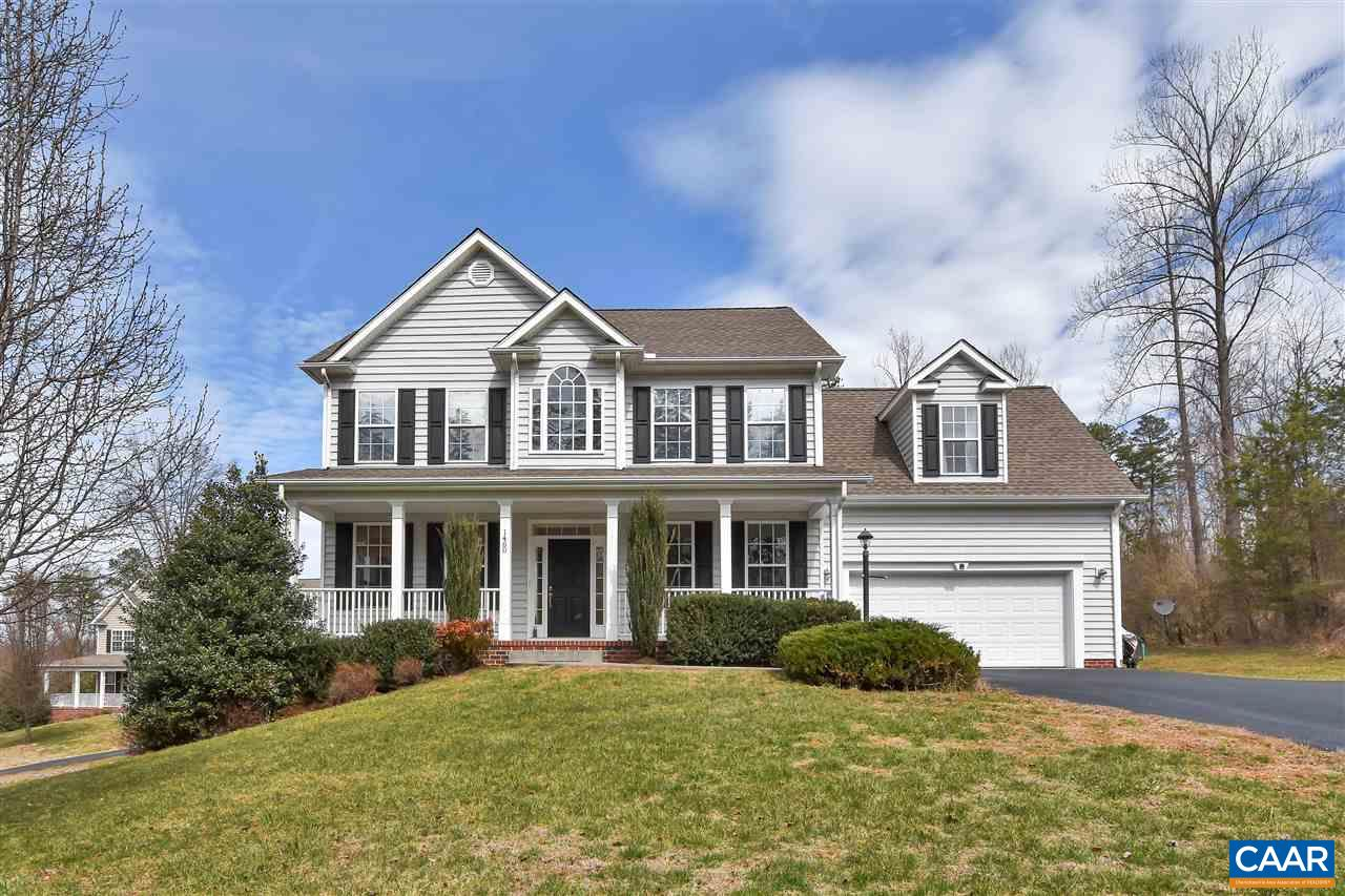 Open house Sunday March 17th from 2-4. Spacious 5 BR home on a private lot located just minutes from UVA and Downtown Charlottesville.  Sun filled rooms, large covered front porch,  open floor plan,  wood floors,  large finished basement with full bath and bedroom, two car garage and huge master suite.   Community pool,  playground and walking trails.  Short drive to 5th St. Station shopping and I-64.