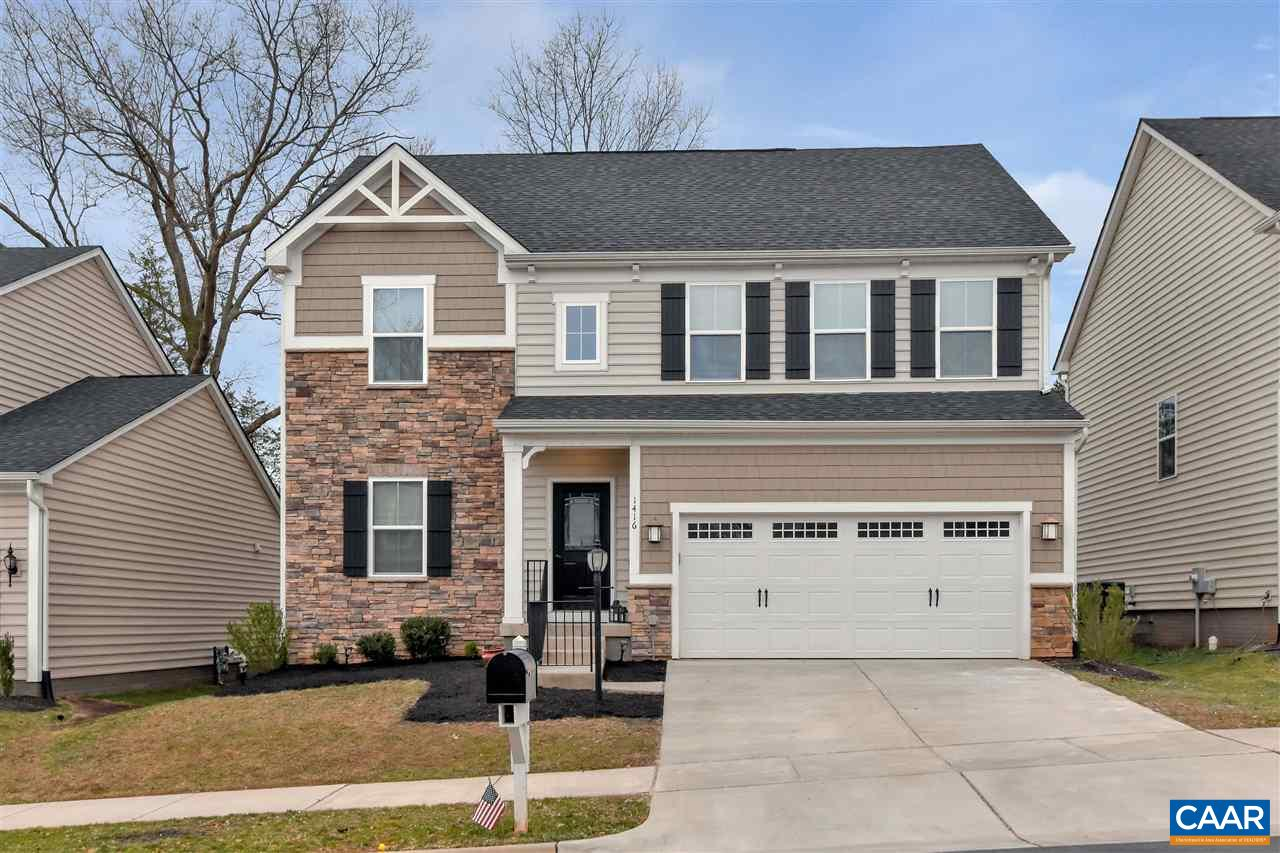 Room for everyone in this BEAUTIFUL 7 bedroom, 4.5 bath home. 4 years new.  Home has 2 kitchens and finished attic space for those seeking multi-generational living.  Beautiful hardwood floors throughout main level, enormous kitchen with beautiful island, morning room, family room with raised fireplace and formal living room. Master suite with large walk-in closet, 3 additional large bedrooms on second floor. Finished attic space includes sitting room, bedroom and full bath. Terrace level offers an additional kitchen, family room, 2 additional bedrooms,  and full bath. Enjoy all the amenities of Forest Lakes while living in this beautiful home. Convenient to schools, shopping, NGIC and Charlottesville.