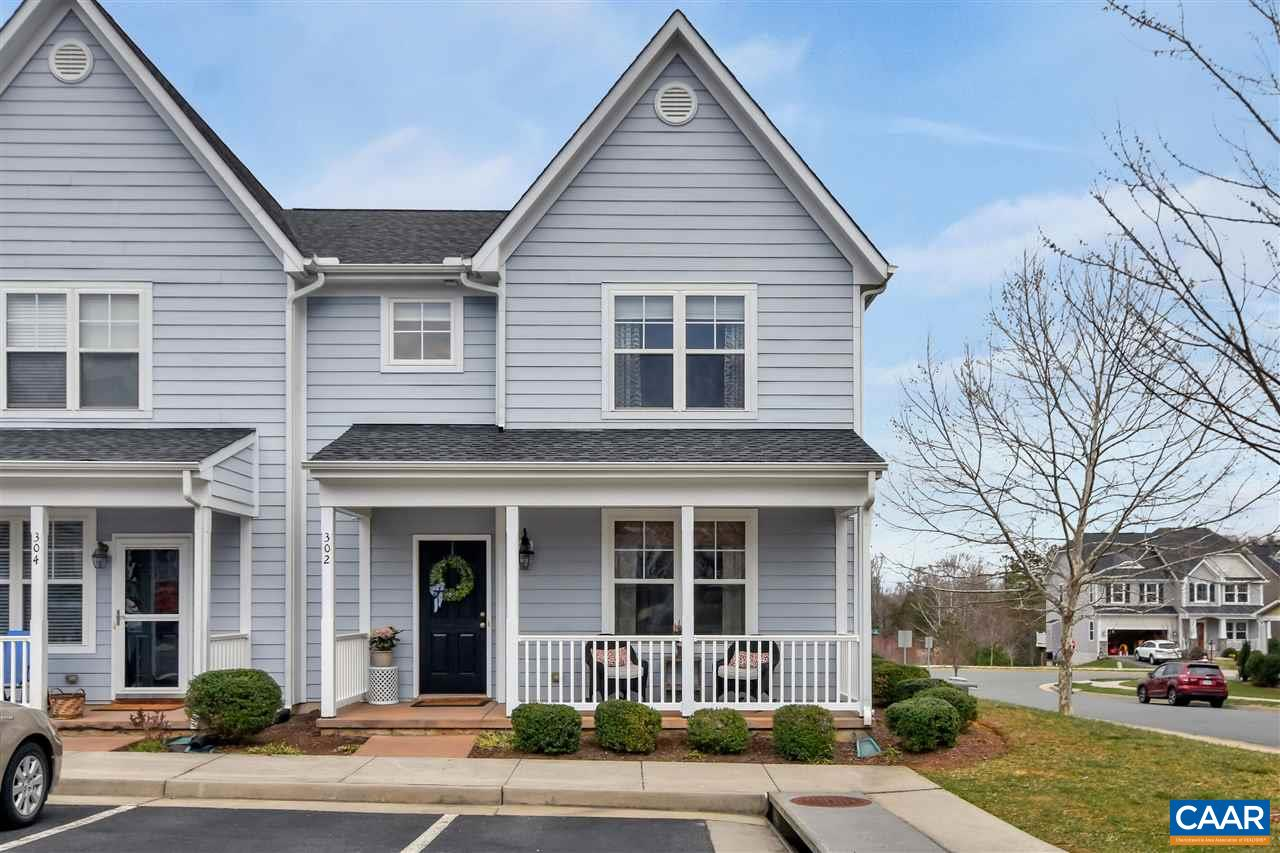 Spacious & affordable end-unit townhome in Crozet's popular and convenient Westhall neighborhood! This 3 bedroom, 2.5 bath home is drenched in natural light, highlighted by 9' ceilings & hardwood floors. Other features include fully featured kitchen, vaulted ceiling master suite w/walk-in closet, new upstairs carpet & upstairs laundry. Large family room opens into the fully fenced rear yard w/raised deck. The perfect spot to enjoy Blue Ridge MT views w/family and friends! New HVAC system & low maintenance HardiePlank siding. Just steps from the expanding Crozet Trails, & walkable to the Crozet Park (fields, playground, YMCA pool/clubhouse), and to all that downtown Crozet has to offer. Western Albemarle schools. Convenient to UVA & C'ville!