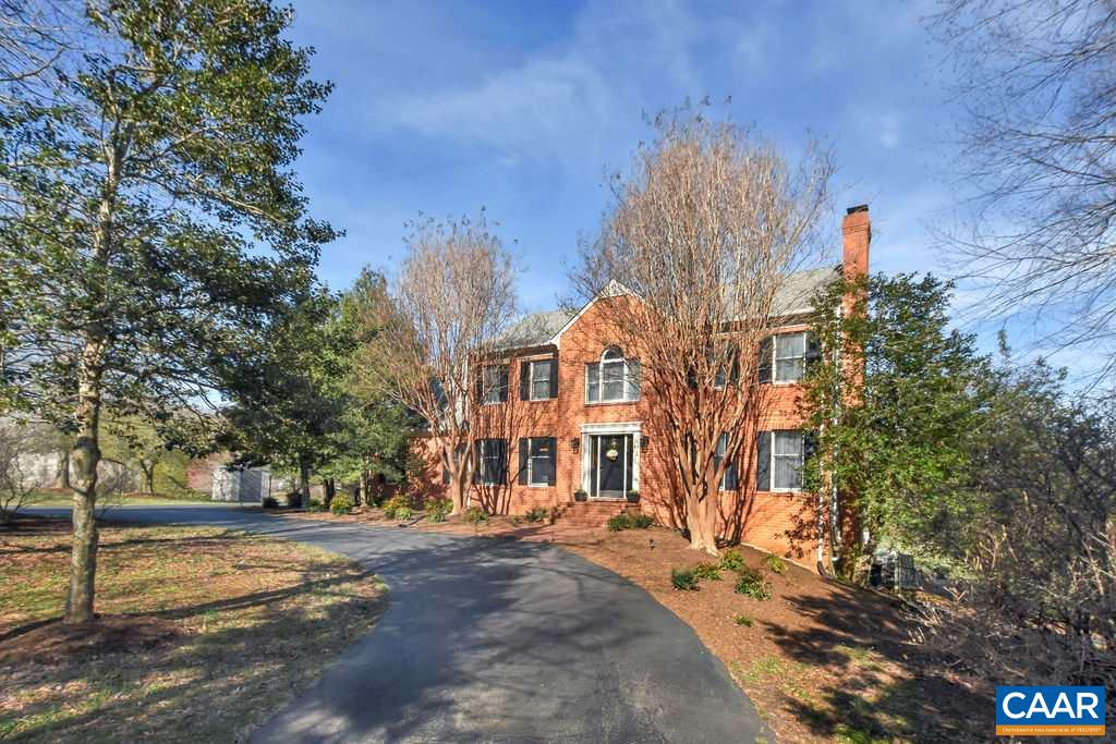 SUN 4/7, OPEN 1-3PM.  Fantastic GRAEMONT property features CLASSIC 5BR/4.5BA HOME & a beautifully LANDSCAPED & expansive NATURAL SETTING on a quiet cul-de-sac, CONVENIENTLY LOCATED moments to the airport & Hollymead area shopping, while only about 20 mins to UVA/Downtown.  The circular drive & colorful gardens welcome you home.  Inside, a comfortable & BRIGHT FLOORPLAN offers the best of all worlds - inc. formal dining room, living room w/ fireplace, open white kitchen w/ endless counters/storage, office w/ a serene view & HI-SPEED INTERNET/CABLE (!), spacious master suite & much more. The SCREENED PORCH overlooks the grounds & POOL, perfect for entertaining or simply relaxing in your personal oasis!