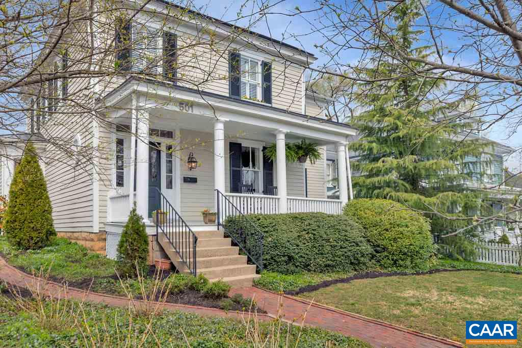 This elegantly remodeled and extended downtown home is filled with sunshine and warmth. Gourmet eat-in kitchen provides plenty of space for the open concept modern living, while the traditional dinning room and living room give you the opportunity for formal entertainment. Off of the kitchen is a spacious playroom/studio/bedroom with a full bathroom. Stunning upstairs master suite has a walk-in closet and bathroom with both shower and soaking tub and his and hers sinks. There are 3 additional upstairs bedrooms, full bathroom and a laundry room.  Original and reclaimed hardwood floors throughout the whole house. Beautiful outdoor entertaining space, stone patio with a fire place and landscaped fenced yard. 2 parking spots in the back.