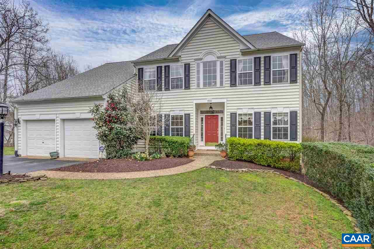 Wonderful privacy backing to woods at the end of the cul-de-sac in Dunlora neighborhood, which features a pool, clubhouse, walking trails & more!  Welcoming, open & airy 4+ BR 4.5 BA home with lovely 1st floor Master BR.  Gracious staircase overlooks soaring 2-story stone FP in the Family Room, which adjoins spacious eat-in kitchen built for entertaining!  Kitchen features double wall ovens, stainless steel appliances, farmhouse sink & 6-burner gas range.  Tranquil outdoor living space abounds with 2 decks on main level and stone terrace with large deck on awesome walk-out lower level.  Lower level also features 2nd gas fireplace, wet-bar w/mini fridge, wine closet and full bath.  Beautifully sized bedrooms on upper level.