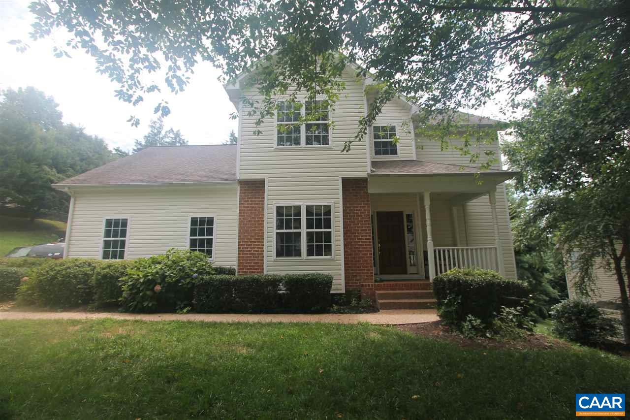 One owner, custom built home in the much desired & convenient Fontana neighborhood just minutes east of downtown Charlottesville & close to Martha Jefferson Hospital, shopping & Darden Towe Park. Home features include an open floorplan, gas fireplace, large kitchen with granite counters/wood cabinets, hardwood flrs,breakfast & dining rooms on the first floor. Upstairs offers a Master Suite with 2 walk-in closets, a loft/office space & 3 additional bedrooms along with a full bath.  The walkout terrace level offers a family room, bedroom & full bath. Private deck, shed, side load garage & mountain views complete this fantastic value in today's market. Fontana features a pool, clubhouse, playground, tennis, walking trails & a basketball court.