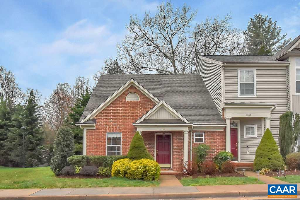 Open House Sunday, 4/28  11-1pm! This move-in ready, single-owner END UNIT town home in Somer Chase Court at Hollymead is immaculately CLEAN with a 1st FLOOR MASTER Bedroom suite and additional bedroom and full bath upstairs. Inviting and OPEN FLOOR PLAN on the main level with HARDWOOD FLOORS throughout. NEW CARPET in both bedrooms and RENOVATED upstairs bathroom. SUNNY and BRIGHT Laundry Room on main level. NEW HVAC system. HOA fee's cover ROOF, yard, trash and exterior maintenance. PERFECT location with easy access to Route 29N and all the wonderful amenities at Hollymead.