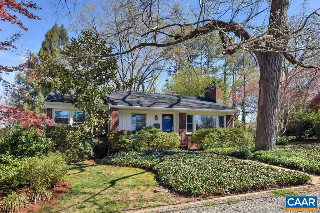 Charming gem of a cottage on Oxford Rd, arguably one of Cville's favorite streets in established RUGBY n'hood.  Located in the heart of Cville, this 3 bed, 2 bath RENOVATED home is WALKABLE to parks/YMCA, bikable & only 5 MINS DRIVE TO UVA & Downtown Mall! The private, fenced backyard pops with color & has been professionally LANDSCAPED w/ endless flowers, annuals & trees accented by stone walls & wisteria-draped bluestone patio. Inside is a delightful BRIGHT floorplan from living room w/ fireplace flanked by built-ins to open kitchen/dining room leading into spacious sunroom (w/ heated floor) overlooking gardens. MANY KEY IMPROVEMENTS inc. new roof, new high-end windows, HVAC, new insulation, LEAP green cert & more!