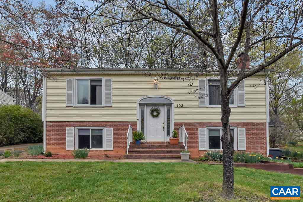 Conveniently located just minutes from downtown, 5th Street Station (Wegman's, restaurants, shops, Dick's Sporting Goods, movie theatre, etc), plus close to UVa, I-64, and both hospitals. Over 50 acres of common space w/ trails and play area. This move-in ready home is in an established neighborhood and includes hardwood floors, fiberglass window replacements throughout, newer siding, open living & dining area, spacious family room w/ wood stove, plenty of storage, newer HVAC, lots of daylight, quiet cul-de-sac, fully fenced yard, all in a great community.