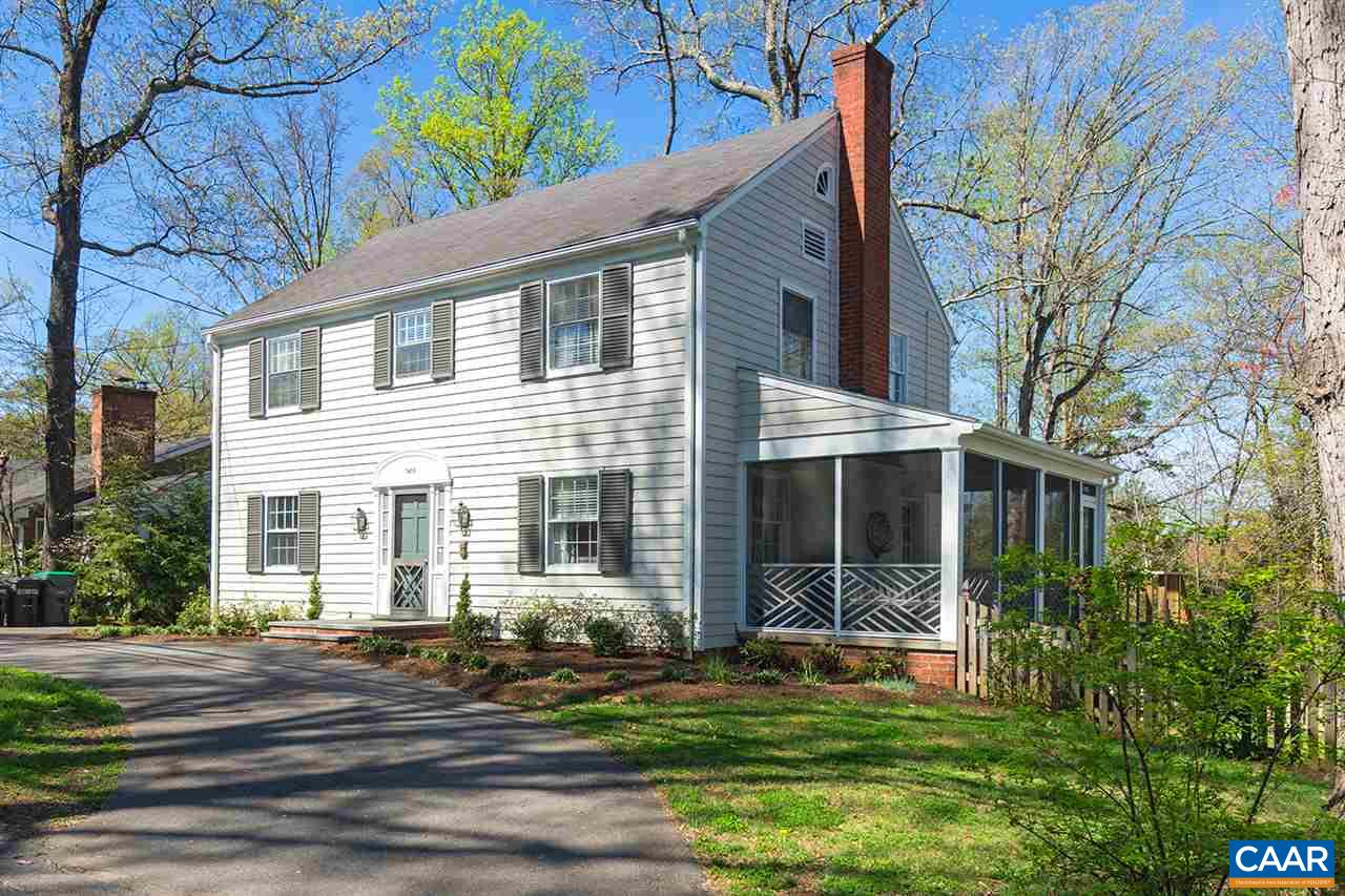 Wonderful 4BR/4BA colonial home in the heart of the City, beautifully upgraded & renovated, situated in one of the top neighborhoods - convenient to UVA & Downtown! Traditional family friendly floor plan w/ nearly 3,000 fin.sq.ft. feat: lovely hardwood floors; updated kitchen w/ soapstone counter, gas range & opens into adjoining light-filled family room; huge formal living room w/ fireplace & access to inviting screened side porch; formal dining room w/ wainscoting & chandelier; large master suite; fully finished basement w/ impressive 'down to the studs' renovation - adding open & useable space w/ top quality finishes; new heating & cooling units; fenced, level & landscaped backyard; +more! Outstanding City home in an unbeatable location!