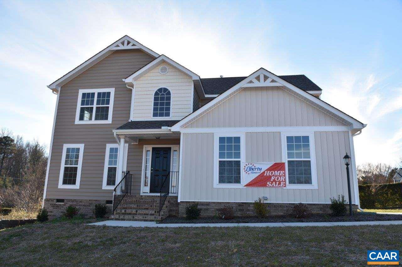 Looking for a Large Open Lot? Briery Creek Village home sites are 3.0 to 6.0 acres with gorgeous pastoral views and rolling uplands, located minutes from the Town of Scottsville and 30 minutes from Charlottesville. DSL High Speed Internet is Available! The pictures shown have upgrades that may be added to the base price. The Wallace base plan features 4 BR, 2.5 Baths, 2-Car Garage with Master Suite, Great Room, Dining Room, Open Kitchen, and Breakfast Nook. Options and upgrades can be added to your customization! Septic system designed for 3 bedrooms – accommodates 6 person occupancy. Contact agent for details.