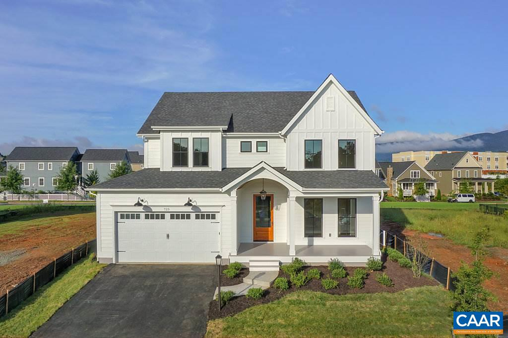 Build this stylish modern farmhouse design OR the plan of your choosing on this exceptional lot with views and privacy behind in Crozet's premier community Old Trail. Built by local builder, this high performance home features 2 floors of living space and a 2 car garage. Spacious open floor plan w/kitchen open to vaulted dining area & family room. Exposed wood beams, heavy trim, finish in place oak floors, tile back splash, center island, & barn style doors are just some of the features that set this home apart. Upstairs master suite w/gorgeous bath, 2 bedrooms w/ shared full bath plus a 4th bedroom with private bath. Similar photos and video tour.