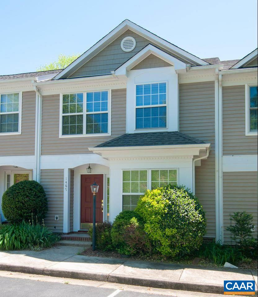 OPEN HOUSE - May 5/1-4. Just Listed! What a great location in the desirable Riverrun neighborhood! Located close to downtown and RT. 29, as well as shopping, schools, restaurants and Pen Park for golfing, tennis and walking trails. This immaculate home with a level backyard/common area overlooking an inviting and  partially wooded area with a stream, walking bridge close to the golf course. There are mountain view from the rear patio and the master bedroom. Offering 3 bedrooms, 2 1/2 baths, eat-in kitchen, great room with built-in shelving and fireplace. Good size bedrooms. The HVAC system has some manufacturer's warranty left, recently new sliding glass doors to the patio and range. A quick closing is offered. Certainly worth a look.