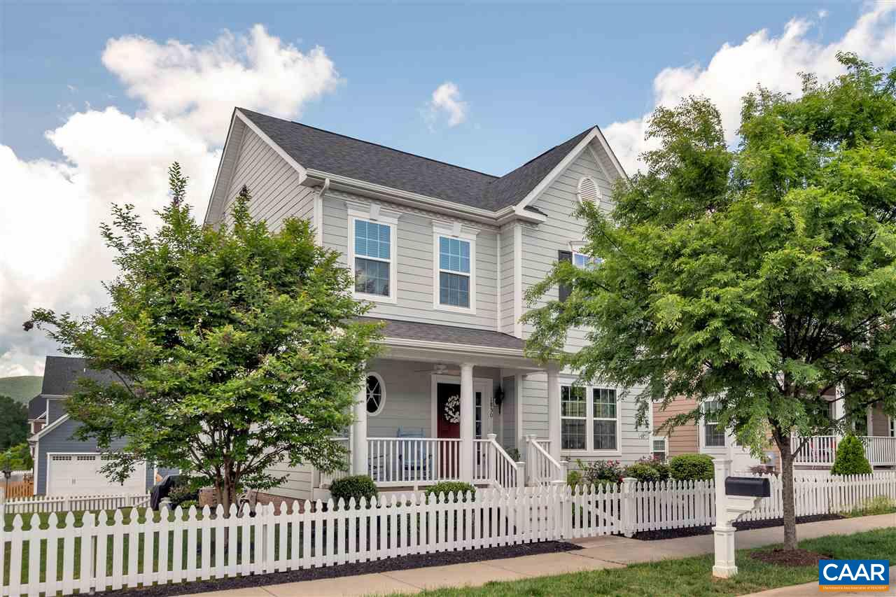 Located in Crozet, this arts & crafts inspired home is ABSOLUTELY CHARMING from the picket fenced yard to the rocking chair front porch and tree lined street. Bright, open floor plan w/ gleaming hardwood floors & high ceilings throughout the main level. Kitchen w/ stainless appliances, granite counters, gas cooking & pantry storage opens to family & dining rooms. Spacious master suite w/ large walk-in-closet & attached bath w/ dbl vanity, soaking tub & tiled shower. Back staircase leads up to a private 4th bedroom/bonus room w/ walk-in closet & ensuite bath. Basement features huge finished rec room, full bath, storage room & utility room. Rear loaded 2 car garage. Western Albemarle schools/ Brownsville Elementary. OPEN HOUSE SUN 5/19 11-1.