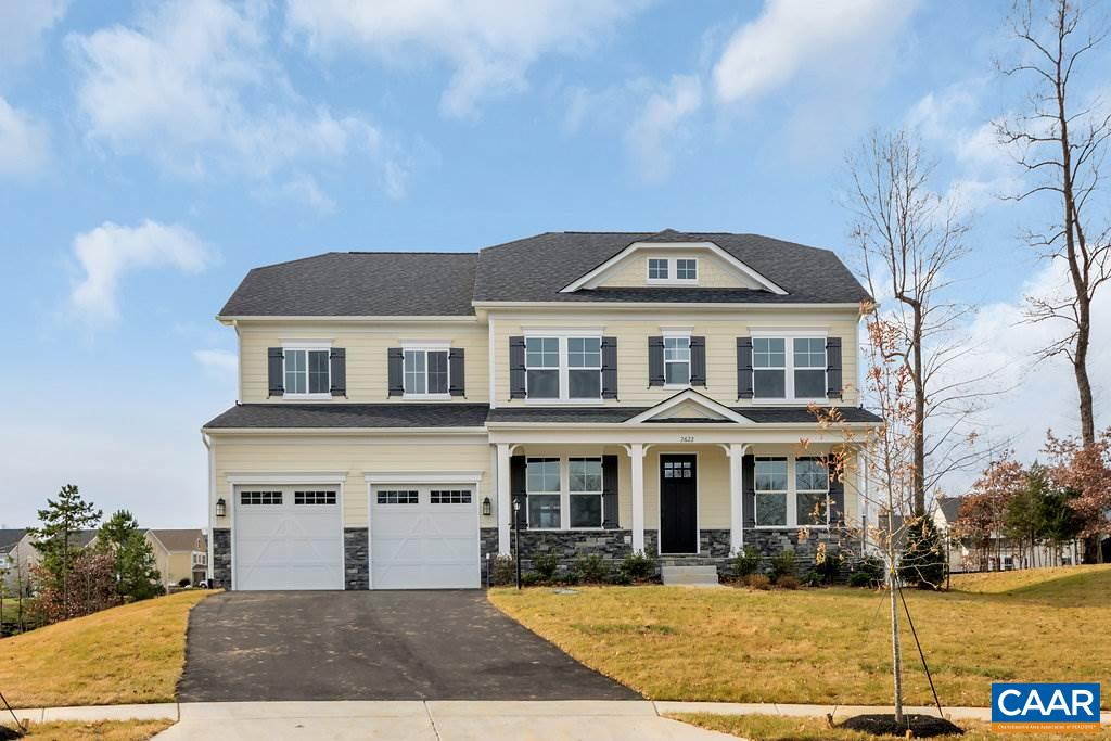 The Carey features 4 Bedrooms, 3.5 Baths Open Floor Plan in Westlake at Foothill Crossing.  Only 1/4 Mile from Claudius Crozet Park.  Spacious Owners suite w/ spa-like bathroom. 9' ceilings main & 2nd levels, hardwood floors. Front porch, Hardie Plank & stone, granite countertops, stainless appliances with cook top and wall oven, huge kitchen island, walk-in pantry, and more! Finished basement optional. Similar photos.