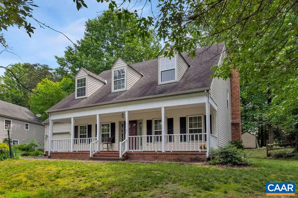 OPEN SUNDAY JUNE 2 1 TO 3:30PM. New listing in desirable Forest Lakes Neighborhood.  Great backyard,  front porch, large spacious rooms, freshly painted.  Formal living room and dining room.  Large eat-n kitchen, family room with fireplace and built-n shelves.  Spacious master suite with en suite bath and walk-in closet.  3 additional large bedrooms with hardwood floors.  Large fenced backyard.  Convenient to NGIC, Hollymead Town Center, schools, restaurants and Charlottesville.  Neighborhood amenities include 2 pools, exercise facility, walking trails, lakes, tennis courts, playgrounds and more.