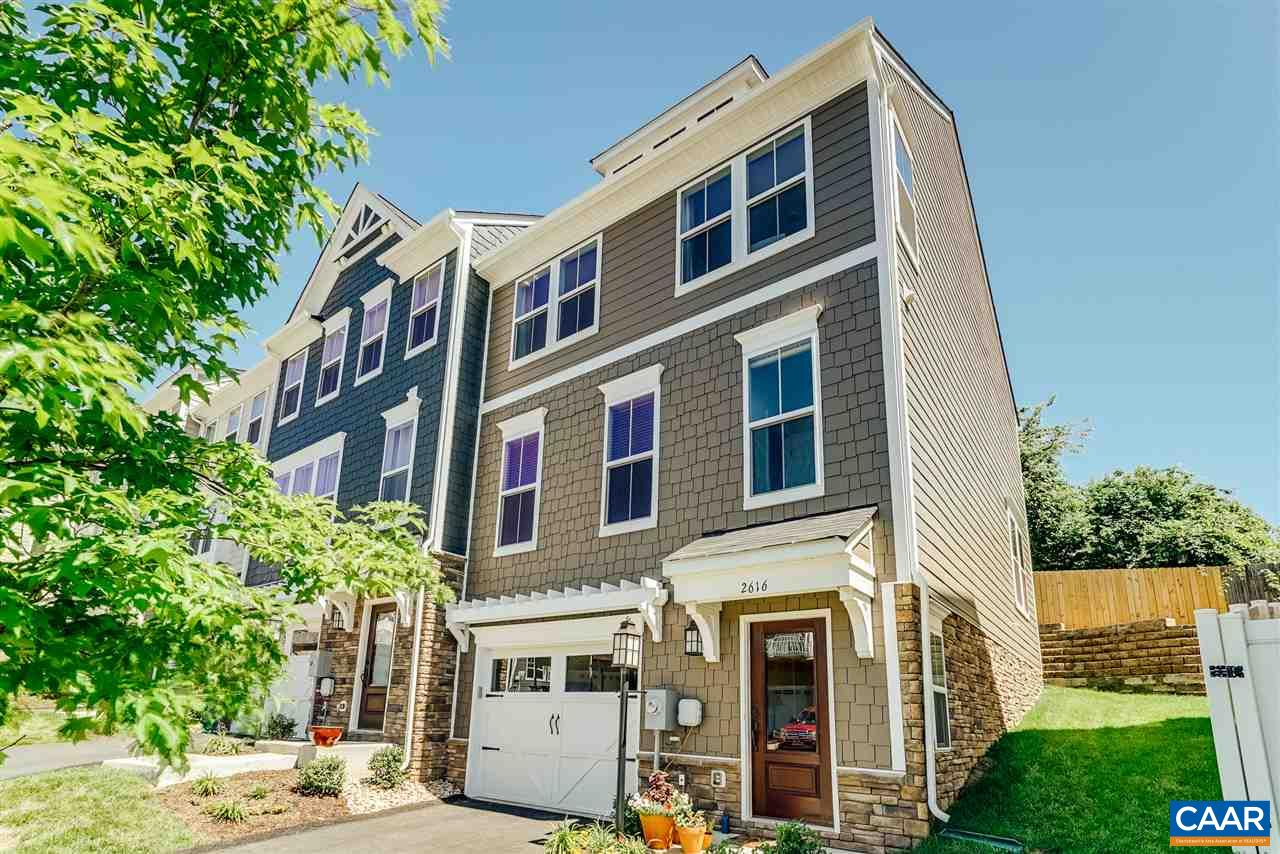 First time on the market in Avinity Neighborhood! Albemarle county living steps from downtown Charlottesville. This recently built end unit townhouse is close to town with Carter Mountain View's and will not last long. Seller must relocate, move in before Summer is over! Stanley Martin luxury townhomes are well built with efficiency in mind. Featuring a 1 car garage, 3 Bedrooms, 3 Full & 1 half baths with mountain views. The gourmet kitchen includes maple cabinetry, Stainless Steel Appliances, Granite Countertops, and Kohler plumbing fixtures. Built with Green Living features in mind, this home includes a TRANE HVAC, Low E windows, and whole house air cycler for improved air quality.