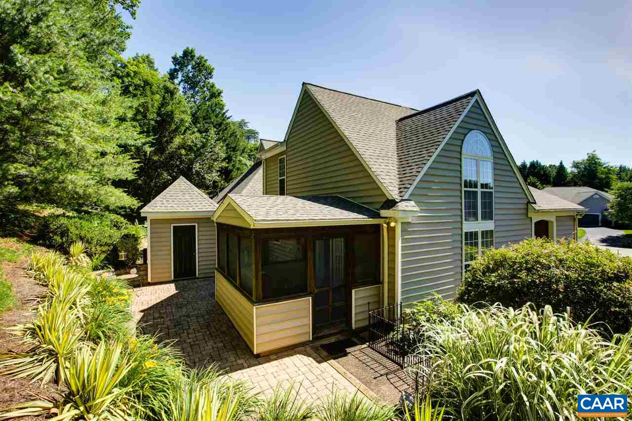 Enjoy gracious cul-de-sac living just minutes from UVa and downtown. This light-filled home features a first floor master suite, an open floor plan and many updates including a new roof (2018), HVAC (2015) hot water heater (2016), center island kitchen with granite countertops, new carpet and Pergo oak wood laminate floors. Natural light streams through the floor to ceiling windows, with the second floor loft used as a third bedroom, office or den. The screened porch with ceiling fan leads to a brick patio with quality hardscaping and bordered by perennials and ornamental grasses. Embrace all that Redfields has to offer -  community pool, lakes, walking trails and a playground. Convenient to the UVa Medical Center, Wegmans and I-64.