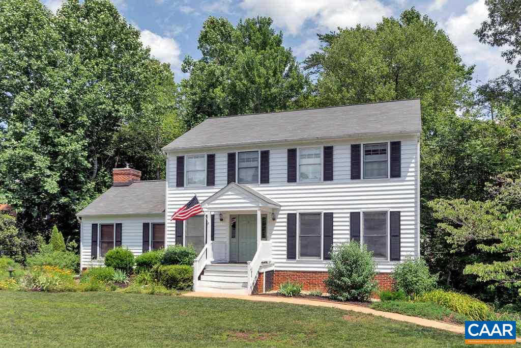 OPEN Sunday 1-3 pm.  MOVE-IN READY in Forest Lakes North.  Well maintained charming colonial home sits on a corner lot.  This floor plan includes a spacious family room that has a vaulted ceiling with fireplace and an updated laundry room just off the kitchen.  Freshly painted interior with New Carpet throughout.  Other improvements made by the current owners include the re-siding the house, roof replacement, HVAC-2005, new hot water heater, and garage door replacement.  Fantastic location within walking distance to the Swim and Tennis Facilities.  Great Value in Northern Albemarle County!