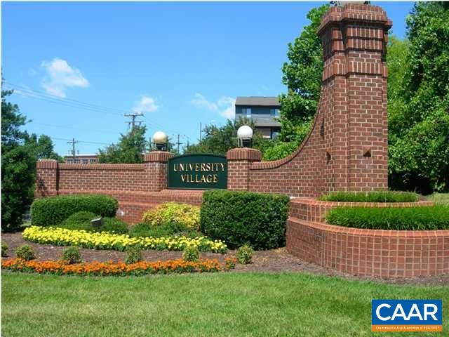 This lovely home offers a simplified, gracious lifestyle a short drive to the University. Winter Blue Ridge views. Move right in. Very well cared for featuring an open floor-plan flooded with natural light, custom bookcases, 2 bedrooms with walk in closets and 2 full baths. This condo comes with an indoor parking space&private storage room, elevators to all floors. University Village is a 55+ community. The amenities include elegant social&meeting spaces, art studio, library, billiard/game room, gracious dining rooms, 75' heated indoor pool and spa, fitness facility, social activities, daytime chauffeur services, ample guest parking, small pets permitted, guest suites on-site. Simplify - live where most everything is taken care of.