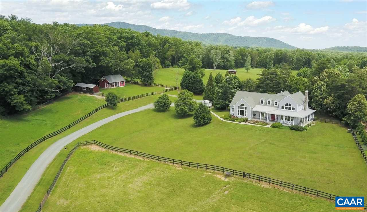 Equestrian property on 22+ acres nestled at the foot of the Blue Ridge