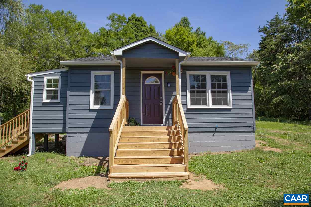 ADORABLE 2BR/1BA HOME IN ALBEMARLE UNDER 170K! This charmer is only 20-25 minutes from Rt 64, Wegmans, UVA, and Downtown. Completely remodeled with large private lot. Large vaulted master bedroom with skylights and walkout to back patio. Second bedroom has built in loft space for bed or storage. Gorgeous hardwood in living room with wood burning stove. New appliances in galley kitchen with white cabinets. Amazing lot with new fence in front for privacy. Shed for storage and endless possibilities with large flat yard. This home will not last long!