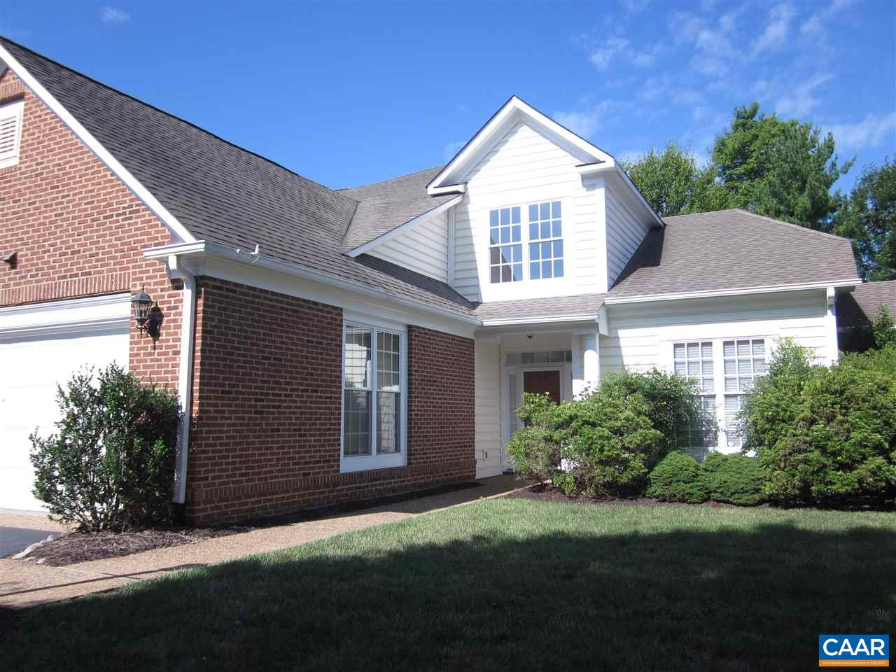 Exceptional listing in the Shepherds Ridge section of Dunlora. HOA includes lawn care, landscaping, driveway care, and membership to Dunlora's swim, tennis, plus trash service. First floor master suite, first floor office that could be bedroom, large great room, dining room, kitchen, breakfast nook, laundry room with tub sink, half bath, and two car garage. Second floor consists of two bedrooms, full bath, large open area, and walk in attic/storage space. Gas heat, gas hot water, and central air.Yard has irrigation system. Light and airy inside with many windows. Lots of closets and extra storage space. Wonderful condition. Available immediately! Call Douglas Wood, 434-981-3299.