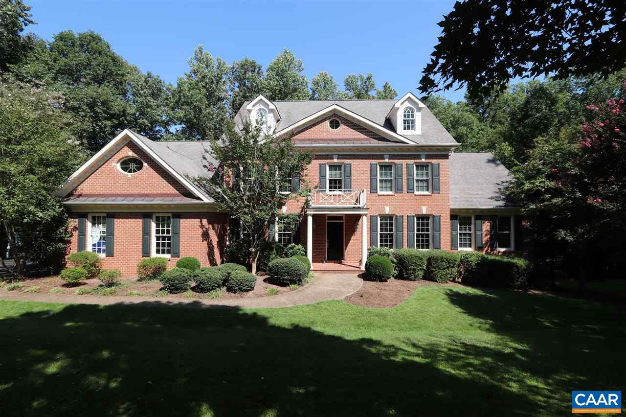 Incredible opportunity! Located in a western Albemarle subdivision with homes valued well above $1,000,000, this spectacular brick residence is now priced $100,000 below current Albemarle County assessment. The home offers 6,000+ finished sq.ft. with large rooms & beautiful finishes. The vast, combined living dining room invites entertaining & large open kitchen spills into a family room with vaulted ceilings, built-in cabinetry & gas fireplace. A luxurious main floor master suite & large, private screened porch with tongue & groove ceiling highlight the 1st floor. Upstairs find a 2nd master suite & 3 additional bedrooms. Finished bonus room on 3rd floor. Terrace level offers theater room, exercise room, full bath & storage.