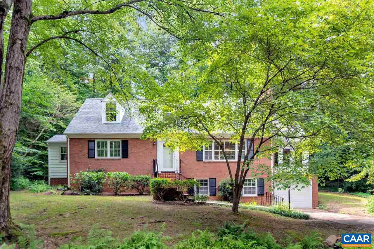 OPEN HOUSE Saturday 8/24 from 1-3PM! Charming Rutledge home on a private lot, close to everything in Cville.  Featuring a first floor master bedroom with a private bath, huge amounts of storage in the partially finished basement, oversized rooms throughout, brand new dual zoned HVAC with digital thermostats, brand new roof, brand new H20 tank and fresh interior paint. Filled with charm at every turn. The basement has plenty of space for a variety of options. Serenity awaits you on this 2/3 of an acre lot with a nature loving back yard. This home is move in ready.