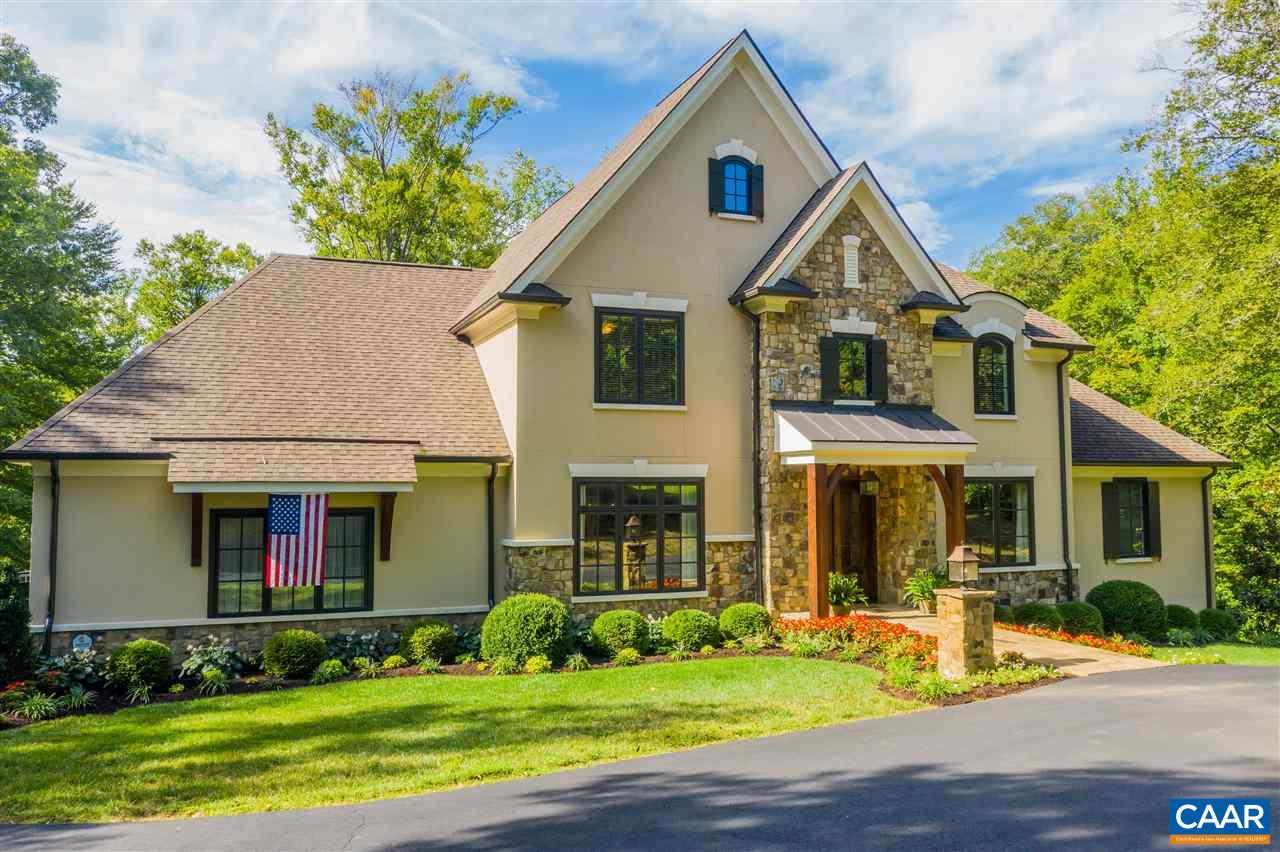 """A MUST SEE BUILDER's OWN HOME on 4 private Acres In Northern Albemarle! This """"PEARL-PLATINUM"""" Certified Energy Efficient Custom Home Will WOW You With Impeccable Craftsmanship, Finest Quality Finishes Inside & Out. Welcoming Entry Opens To A Flowing Floor Plan,9' Ceilings, Hardwood & Tile Floors, Crown Molding, Cofferd Ceilings, Wide Doorways, Family Rm W/Stone FP, Built-ins & Access To Spacious Rear Deck. Luxury 1st Floor Master Ste w/Lavish Bathroom & Spacious Walk-In Closet. Chef's Kitchen w/High-End Custom Cabinetry & Appliances, Granite Counters & Island, Breakfast Nook. 2nd Floor Master Ste, 3 BR's upstairs w/Ensuites & W/In closets. 1st & 2nd Flr Laundry Rms. Finished Walk-Out Terrace Level w/Full Bath, Office, Plenty Storage & MORE!"""