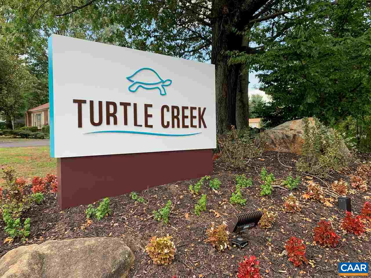 Rare Opportunity to Own in Turtle Creek at this price! 1 Bedroom, 1 full Bath & Laundry in the Condo! Brick Exterior & Wood Burning Fireplace. Quality Construction; Exterior storage unit on private balcony. HOA includes: 2 Pools, 2 Tennis Courts, Fitness Center, Club House, Walking Paths & Close to Stonefield Shopping Center & Albemarle High School.