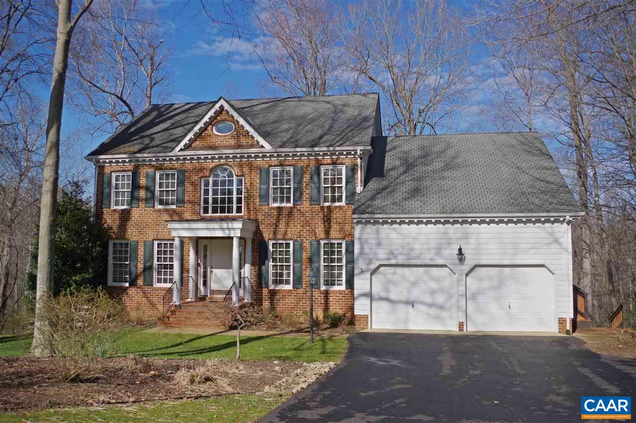 Beautiful Dunlora home situated on a private lot backing to protected woods w/incredible entertaining space indoors & out! This home boasts 5 bedrooms & 3.5 baths. The main level features hardwood floors through including the family room w/fireplace & wet bar, living room, study/library, dining room, kitchen w/granite counters & stainless appliances, half bath & laundry room. Upstairs you'll find the master suite w/a large sitting area, walk-in closet & attached luxurious bath, 3 additional bedrooms w/hardwood floors & full hall bath. The finished basement is perfect for guests & includes a bedroom, full bath, rec room w/built-ins & 2 spacious storage rooms. Outside you'll enjoy the spacious deck, brick patio, play area, shed & 2-car garage