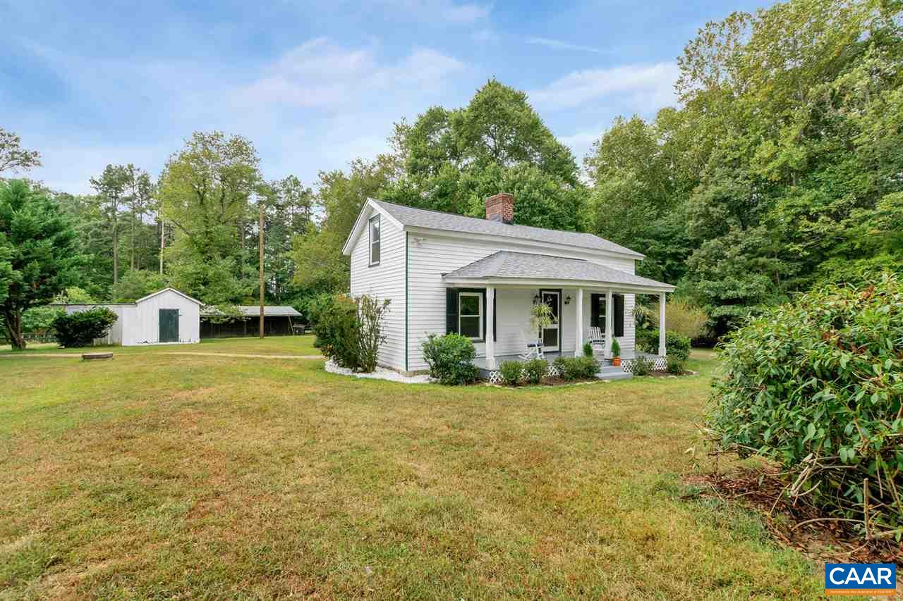 Charming 1850 farmhouse w/ wood floors (some heart pine!) , vaulted ceiling in kitchen, claw foot tub in bath & more on 20+/- acres (additional home sites also potential for diving into 2 10 acre parcels).   Farm features 7 pastures w/ 3 board oak fence, 150'x300' polo arena(could be converted to tennis courts), pony barn, main barn (10 12'x12' stalls, tack room, hot & cold water, wash stall, 6 back stalls) & show ring.  Come see the value & prime location between Charlottesville & Zion Crossroads w/ low Louisa County taxes.  Make this your forever farm!