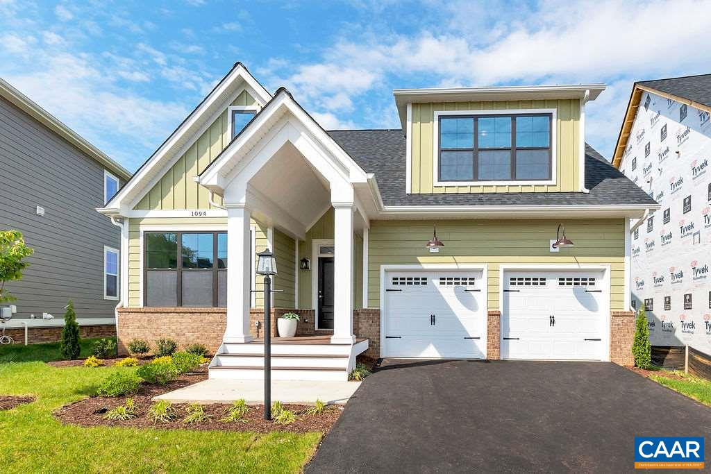 Virtual appts available. Immediate delivery. Main level living. Welcome to the Grayson with a modern farmhouse exterior built by trusted local builder in Cascadia. This home features 4 bedrooms, 3.5 bathrooms, screened porch, gas fireplace, & a finished basement with a media room, rec room, bedroom, and full bath. The Grayson offers a first floor master, vaulted ceiling in the great room, & a generous kitchen featuring a large island, granite tops, a stainless steel chimney hood, and a slide in gas range. The 2nd floor has 2 bedrooms, full bath and a loft area. This premium lot backs up to community green space. HOA includes the pool, clubhouse, landscaping & trash pickup. Ecosmart built, HERS scored, & Pearl Gold Certified. Actual photos.