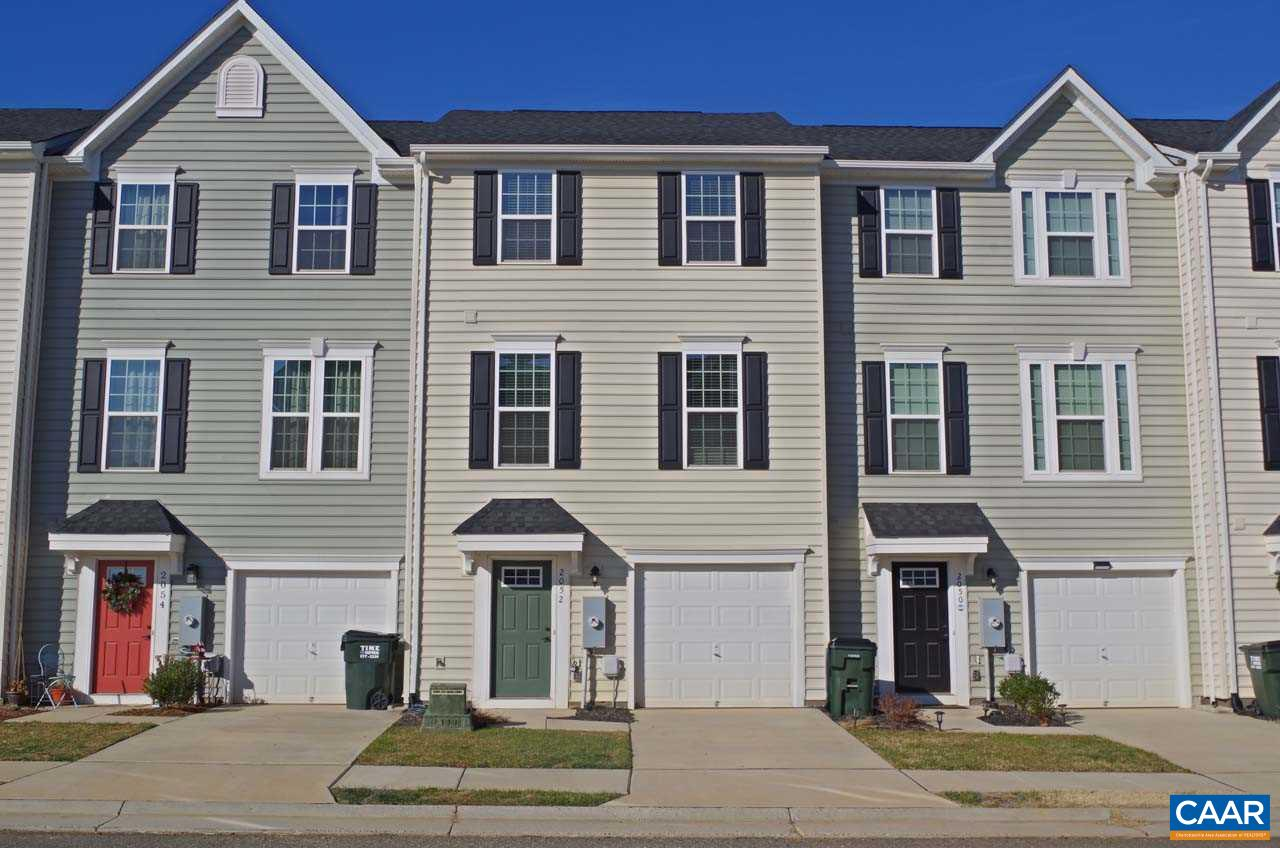Why wait to build when you can move right into this like-new, one owner townhome?! This Mozart offers 4 bedrooms, 3.5 baths & 1-car garage. Entry level features a walkout bedroom or rec room with full bath. Main level boasts an eat-in kitchen with hardwood floors, large center island, granite countertops & stainless appliances, spacious family room and conveniently located half bath. Upstairs you will find the master suite with tray ceiling, walk-in closet, attached bath with his-and-her vanity & dual showerheads, and 2 more bedrooms, full hall bath and laundry area. Enjoy relaxing on the quiet, low-maintenance, Trex deck. Convenient & close to shopping/dining at Hollymead Town Center, Riverwood is minutes from CHO Airport and UVA/Downtown.