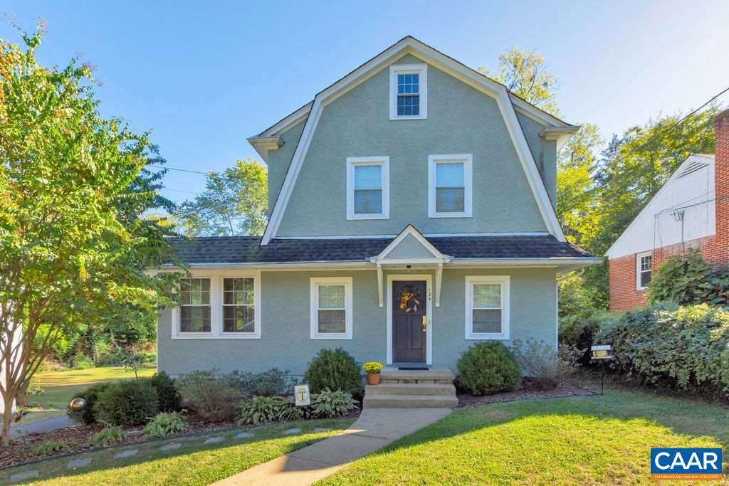Absolutely charming, UPDATED home in the ever popular Fry Springs neighborhood. This AMAZING CITY LOCATION is very close to UVA campus & hospital + all major roads. Easy access to 64, 250 & 29. Renovated kitchen & baths have been completely modernized while honoring the period style of this home. Kitchen updates include quartz countertops, subway backsplash, stainless appliances, gas cooking & pantry storage. Sunlight fills kitchen through the deep bay window above the farmhouse sink - the perfect plant spot. Remodeled baths have comfort height vanities, wall cabinets for added storage, tile floors, granite counters, new plumbing fixtures & tile surrounds. Highlights are built-ins, wood floors, GARAGE, SUNROOM & FENCED YARD. OH Sun 1/12 2-4