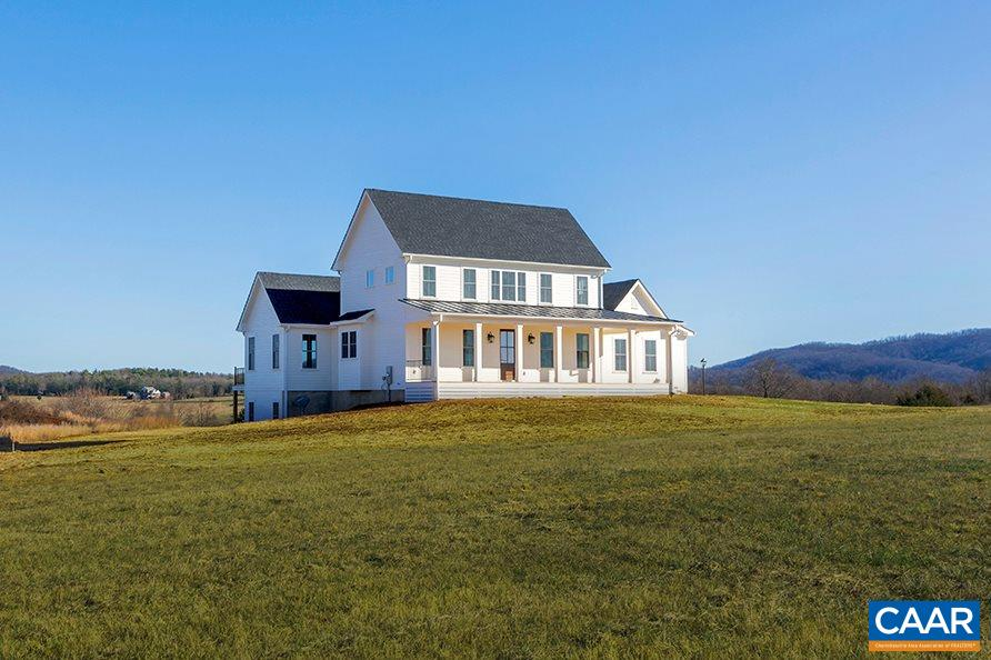 Build a FIRST FLOOR MASTER FARMHOUSE with a truly custom local homebuilder in the established rural estate community of Advance Mills Farms and take in the country setting from this elevated homesite offering 360 views. Or choose from 6 available 21-acre parcels offering a mix of elevated pastoral and mountain views (lot prices vary). Thoughtfully designed, this home generously accommodates ONE LEVEL LIVING + 3 bedrooms/2 baths upstairs. Plenty of storage + the ability to expand with 1800+sf unfin terrace level. Just 10 mins to Target, Starbucks & Airport & 25 to UVA & downtown Cville.