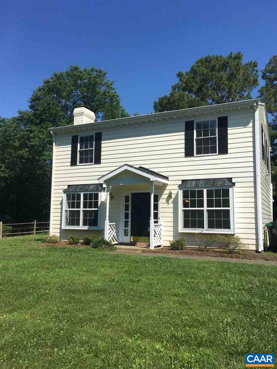 Location location location! Colonial style home convenient to schools, NGIC, UVA with the largest lot on the street.  Lots of room to expend the home on both sides of the house. Fresh paint, roof about 5 years old, Ac about 3 years, new Kitchen 1 years old, Screened in back porch,  convenient to shops, Nice walking trails and lakes. Situated between Forest lakes north and south. Owner willing to do a lease purchase if buyers need time to close. owner agent.
