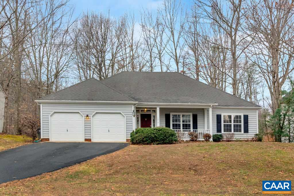 NEW PRICE!!! PRIVATE lot with woods in the back and community pool across the street.  Welcome to the comforts of one level living. Adorable turn key home awaits as you walk in the front door you will notice the vaulted ceilings, open floor plan and built-ins in the great room.  The abundance of natural light and the beautiful sunroom that looks out over your private tree lined backyard.  The large kitchen has an island, work area and a breakfast room that is surrounded by windows.  Enjoy a relaxing shower or spa bath in your owner's suite after a long day. Conveniently located across the street from all Forest Lakes South has to offer from swimming, tennis, trails, gym and much more.