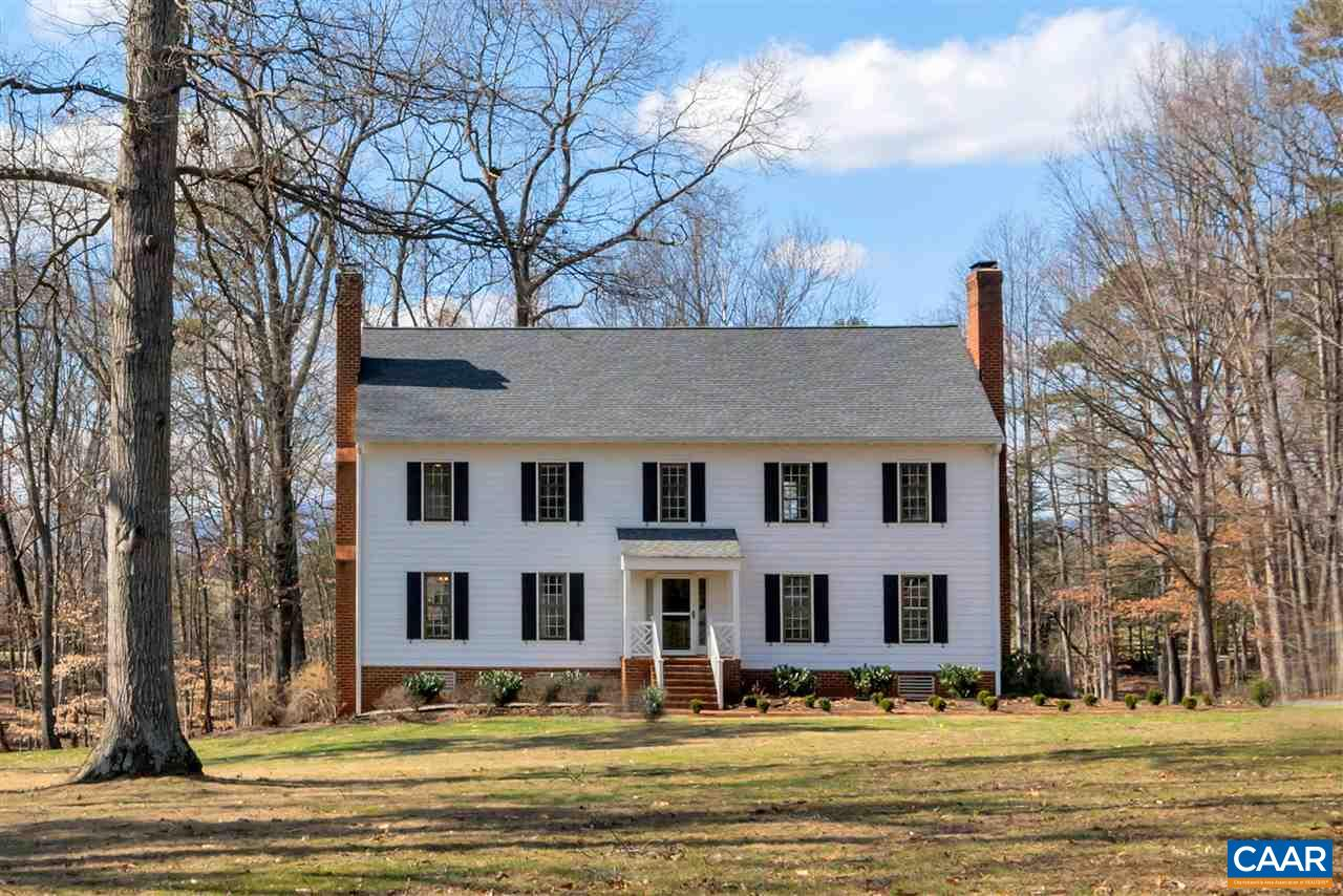 Welcome Home to 2000 Pheasant Lane conveniently located in the Ivy Farms Neighborhood and the Western Albemarle County Schools. An easy drive to Downtown Charlottesville, the University of Virginia and only 4 miles from Barracks Road shopping. This renovated and well maintained Colonial Home sits on 2.45 flat, private acres and offers 3090 Finished Sq Ft and 1548 Unfinished Sq Ft with a Basement & 2-car Garage. Fabulous Features of this Home include: red oak hardwood floors, 3 masonry fireplaces, new roof & gutters, new appliances & granite counter tops, freshly painted inside & out, professional landscaping and oversized Trek decking. Enjoy the wooded trails with stream crossings & covered bridges in this gorgeous neighborhood setting.