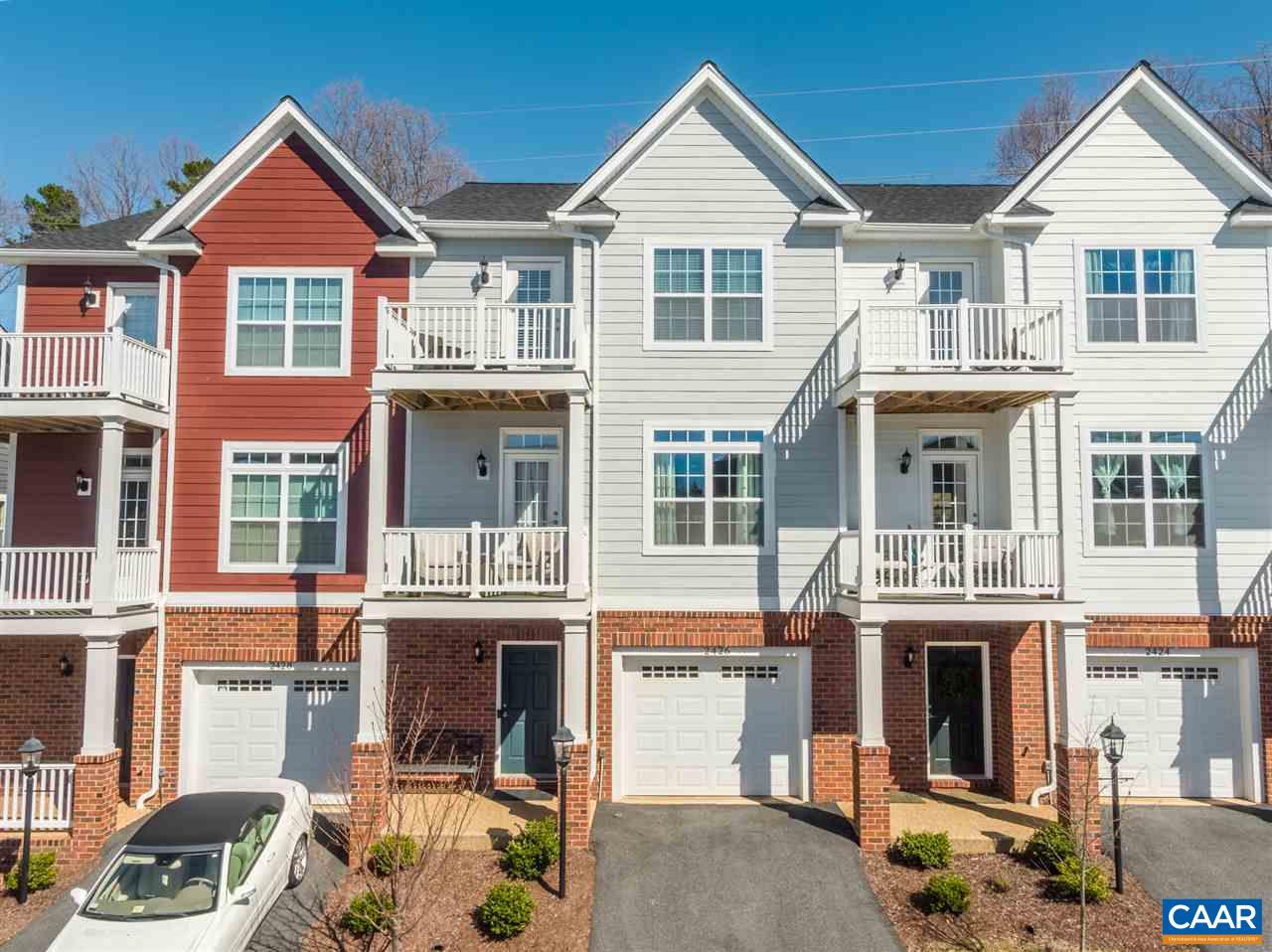 "IMMACULATE / MOVE-IN READY 2017-built Southern Development Homes ""EcoSmart"" townhome in City/UVA convenient PAVILIONS at PANTOPS. Spacious, open floor plan  - the McIntyre model - loaded with upgrades - with over 2100 finished sq.ft. - 3 bedrooms w/ 2 full & 2 half baths; lower level w/ large rec room/office space. Expansive, well appointed kitchen features high-quality white cabinetry, granite & quartz countertops, tile backsplash & GE Stainless appliances (3-door refrigerator & gas range). Enjoy Blue Ridge Mountain views & sunsets from porches off the living room & spacious owner's suite; relax on the  rear patio - a backyard for play/for gardening.  This residence is well-worth your consideration!"