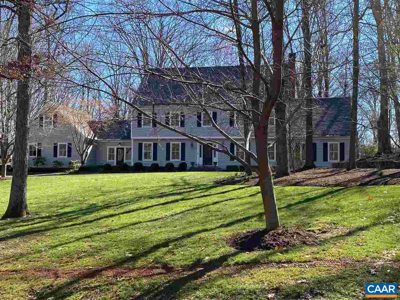 Spectacular renovation by Sage Construction. Updated plans include first floor in-law suite, above garage bonus room, home office, mud room and much more. New Gutters, downspouts, snow guards, windows, skylights, tankless hot water, Mitsubishi units in garage space, exterior and interior painting except for basement area. Light filled eat-in kitchen, cherry cabinets, marble countertops, breakfast bar, and new large kitchen window  over looking gardens and stonework. Pool removed. Partially Finished basement connects to large finished storage room. Enjoy easy access to Boars Head Sports Club, Birdwood Golf Course & gorgeous Ragged Mountain Reservoir with biking, running and walking trails. Close to Ednam Forest private access to reservoir.